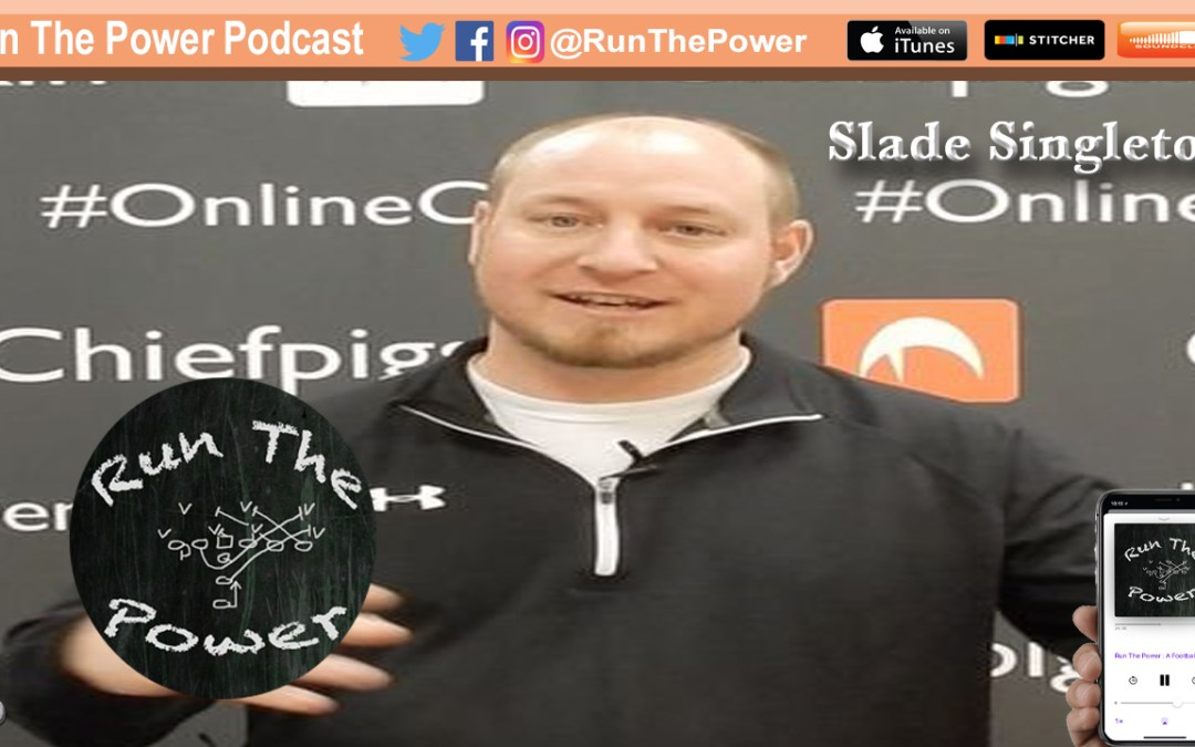 """Slade Singleton – Offensive Gameplan Using ""The Rule of 4"" EP 046"" Run The Power : A Football Coach's Podcast"