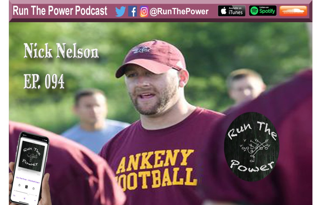 """Nick Nelson – Building an Attacking 3-4 Defense Ep. 094"" Run The Power : A Football Coach's Podcast"