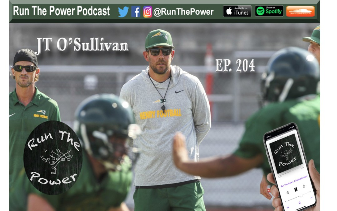 """JT O'Sullivan – THE QB School Ep. 204"" Run The Power : A Football Coach's Podcast"