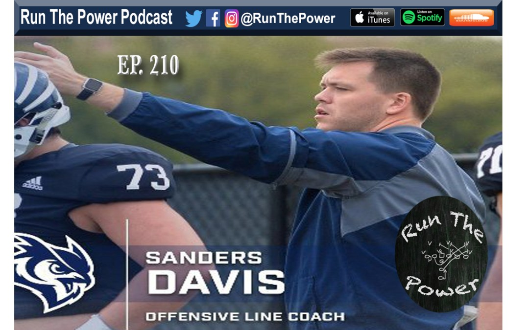 """Sanders Davis – Rice's Goalline Package Ep. 210"" Run The Power : A Football Coach's Podcast"