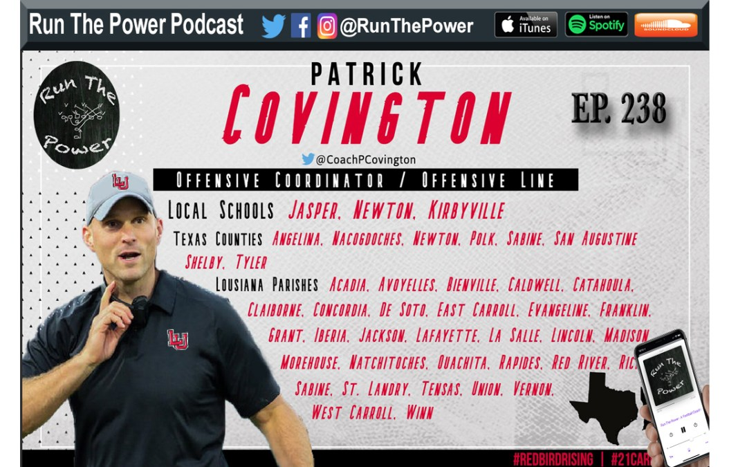 """Patrick Covington – Developing From OL to Play Caller Ep. 238"" Run The Power : A Football Coach's Podcast"