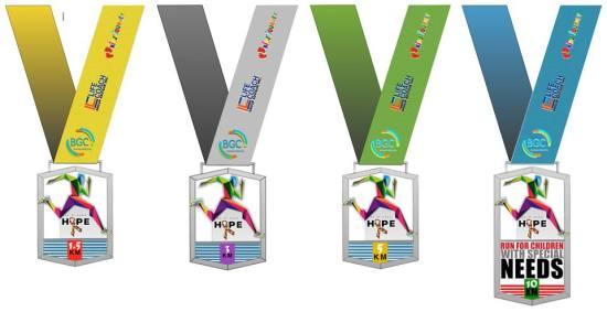 Hope Run 2016 Medals