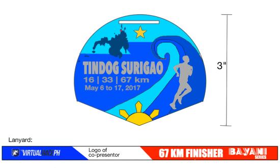 Tindog Surigao Mindanao - Finisher's Medal