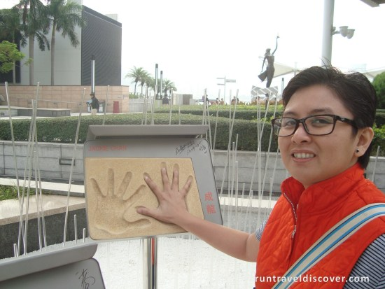 Hong Kong City Tour - Jackie Chan Handprints
