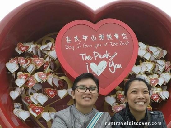 Central Hong Kong - I Love You at The Peak