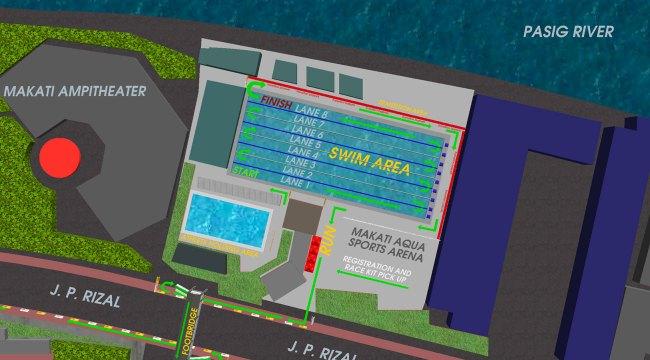 2017 Sun Life Aquathlon - Swim Area