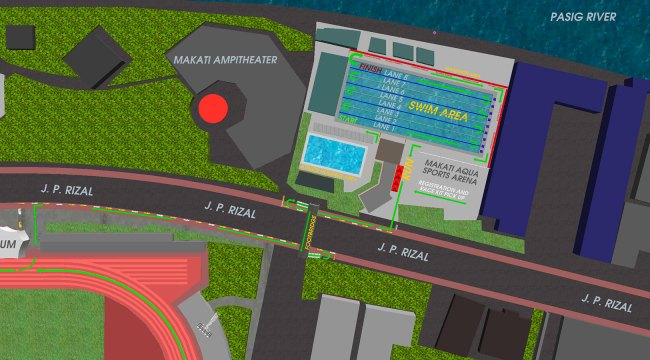 2017 Sun Life Aquathlon - Transition to Run Map