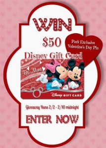 Be Mine Disney Gift Card Valentines Giveaway!