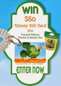 Spring Fling Disney Gift Card and Limited Edition Flower and Garden Festival Pin Giveaway!