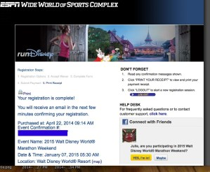 I Signed Up for My FIRST Full Marathon: WDW January 2015