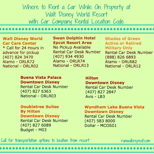 Car Rental Walt Disney World