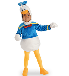 disney store donald costume