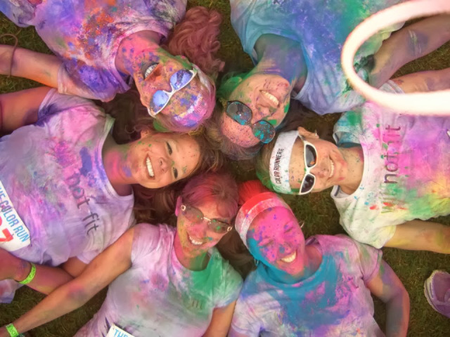 Tracie and Team We Not Fit at 2012 The Color Run