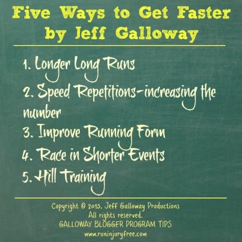 Galloway Run Faster Blog Tips