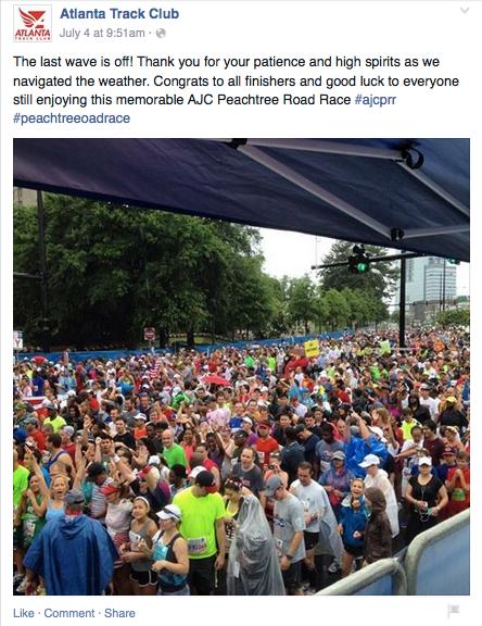 From Atlanta Track Club Facebook Page