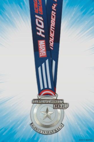 Avengers 10k Captain America Medal 2015