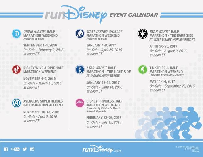 RunDisney Event Calendar