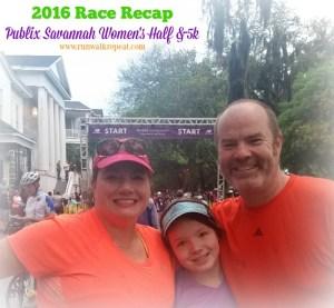 Publix Savannah Womens Half Marathon & 5k Recap 2016