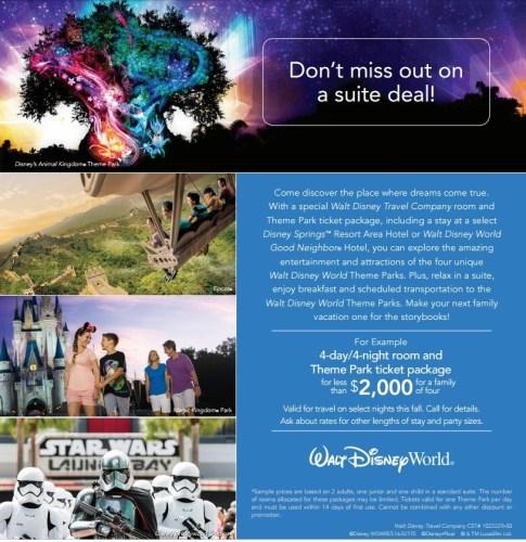 Disney Free Breakfast Fall Suite Deal