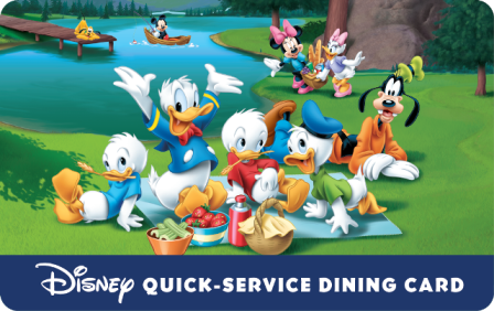 Disney Quick Service Dining Card Package