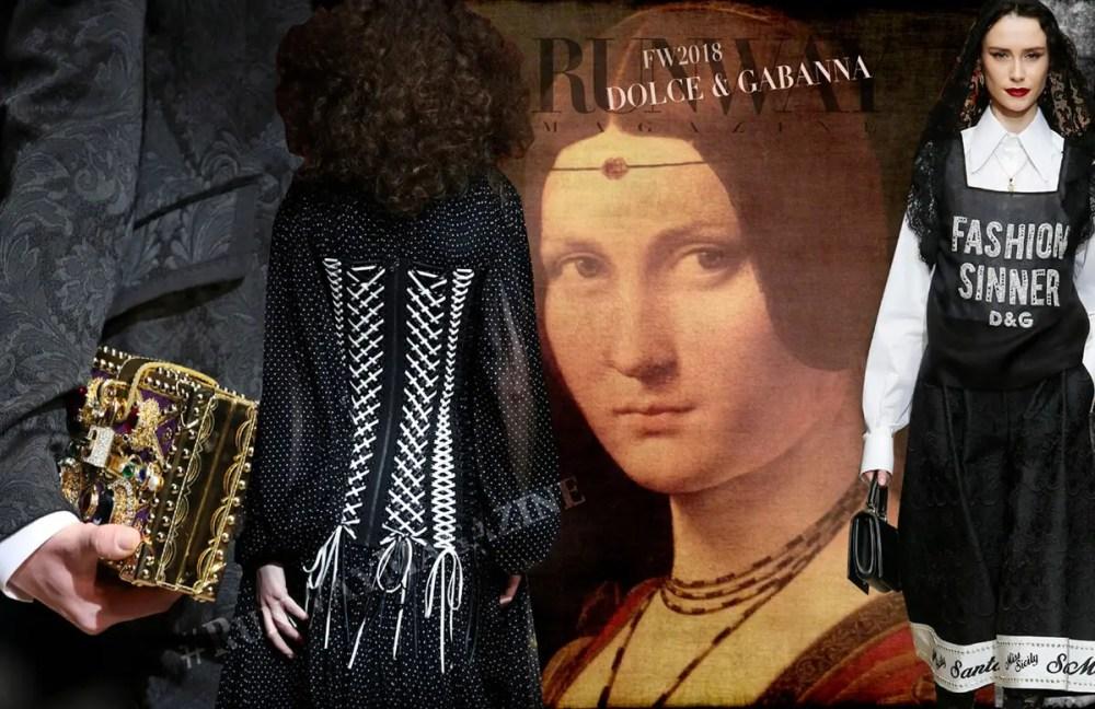 Dolce Gabanna Fall Winter 2018 2019 by Runway Magazine Milan