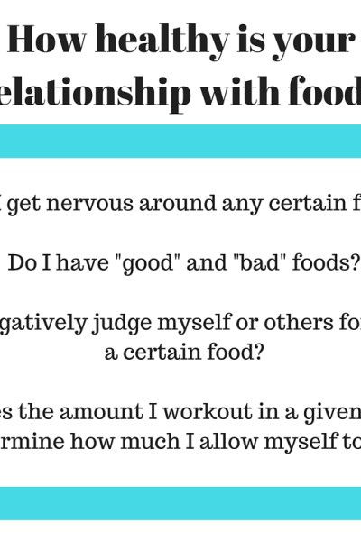 Questions to ask yourself about your relationship with food