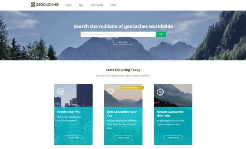 Creating a geocaching account