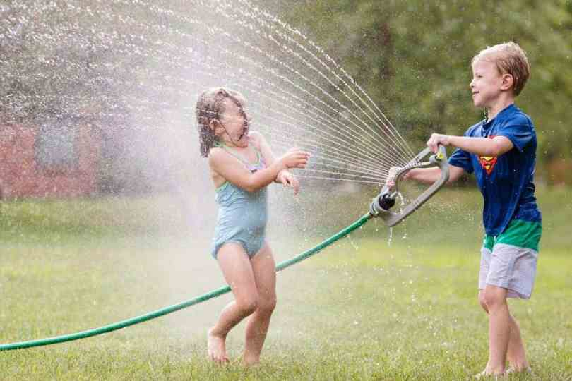 best lens to use when taking sprinkler shots of kids
