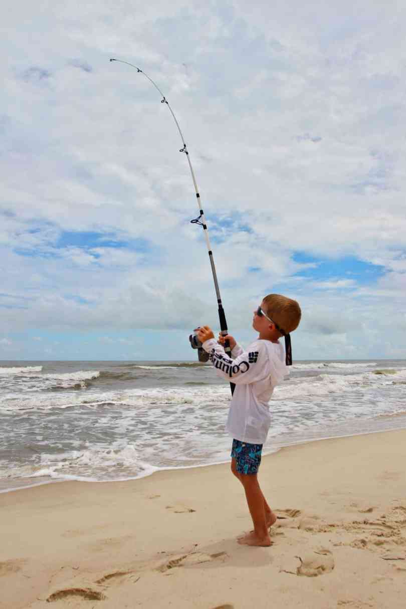 raising kids that love fishing