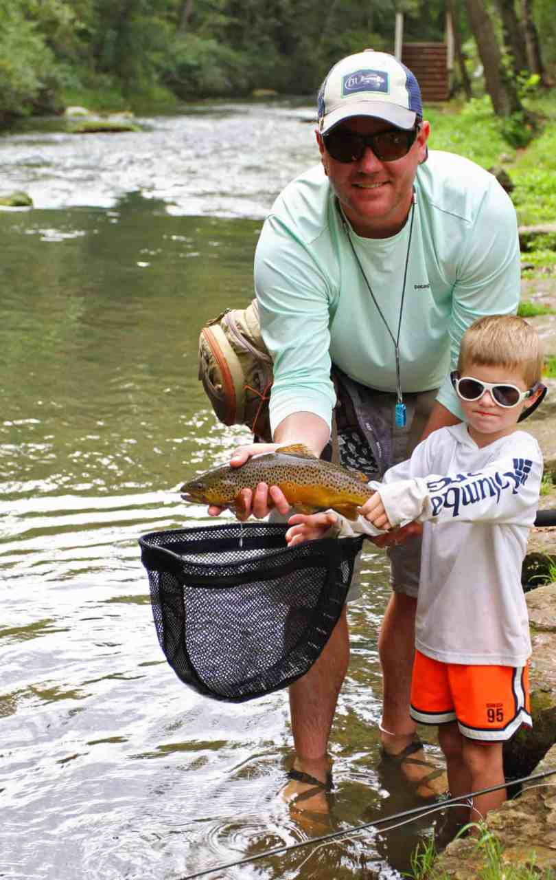 kids only fly fishing creek