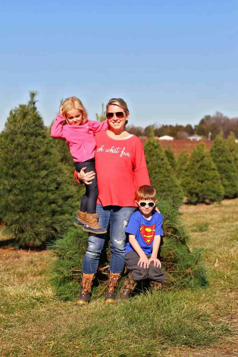 How to cut down your own Christmas tree with kids