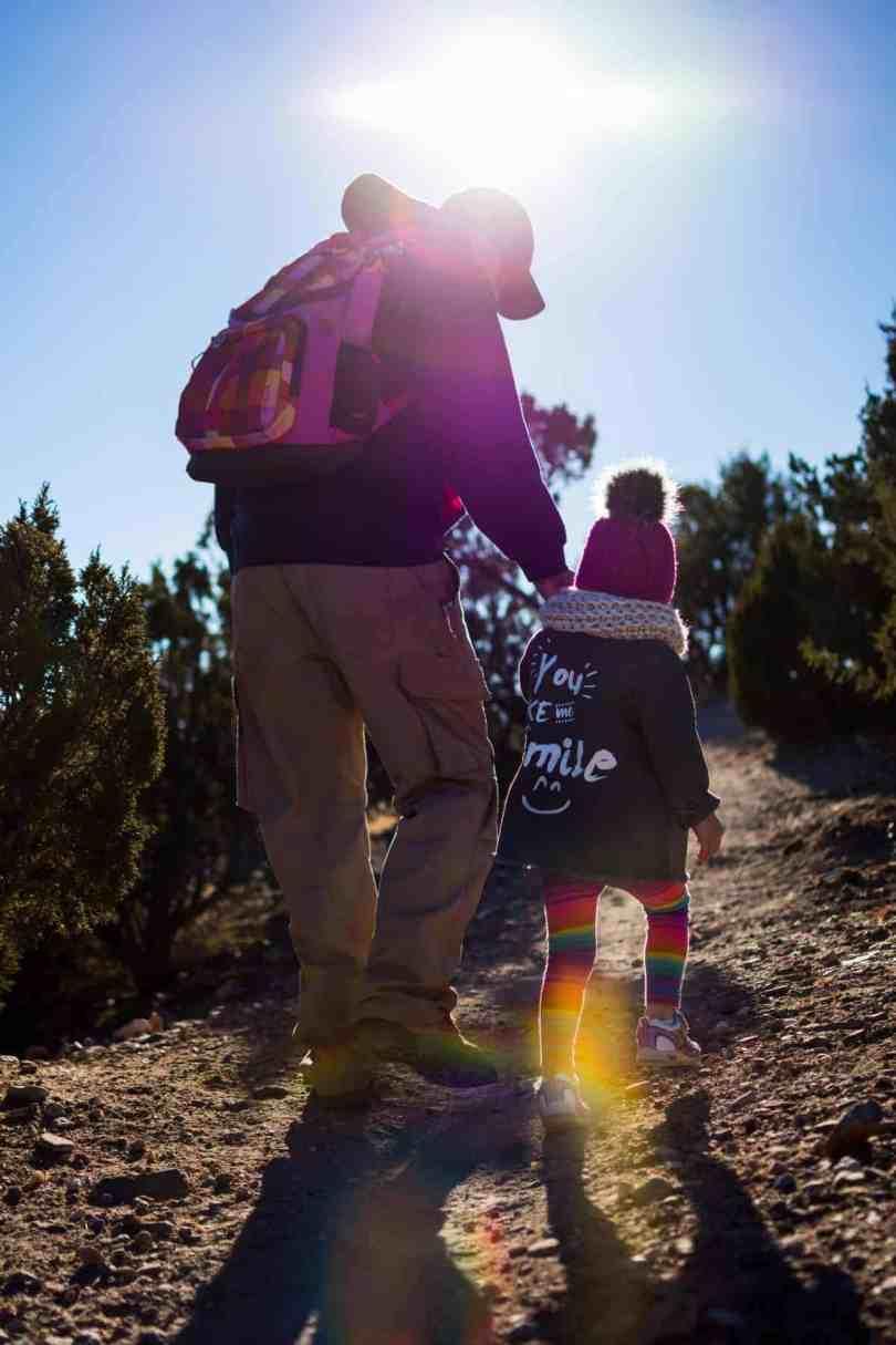 hiking with kids Galisteo Basin Preserve Santa Fe