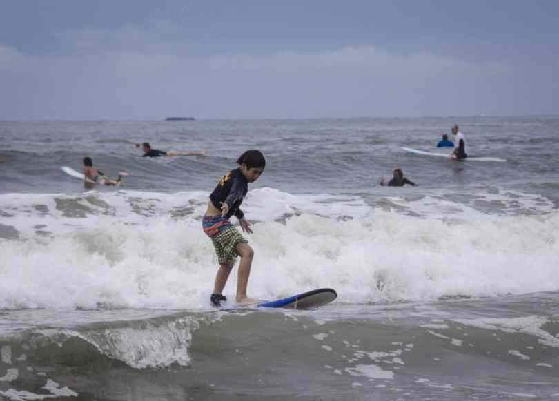 costa rica surfing with kids