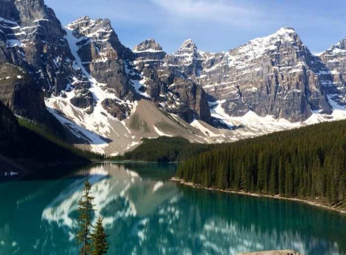 Moraine Lake world's most beautiful places to trail run