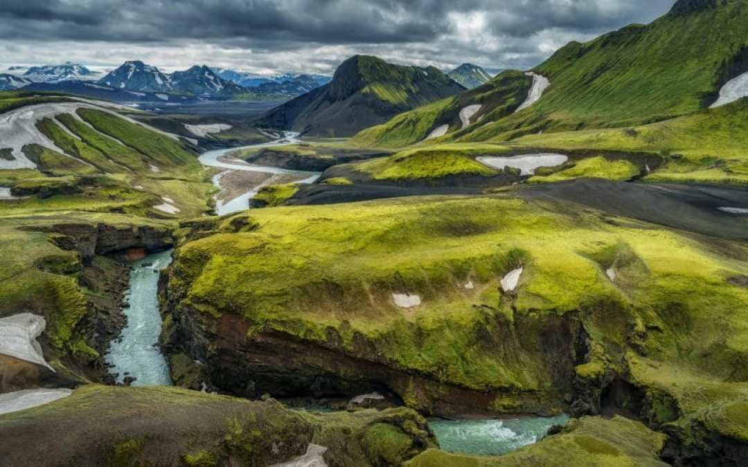 Soaring Over Iceland's Rugged Landscape