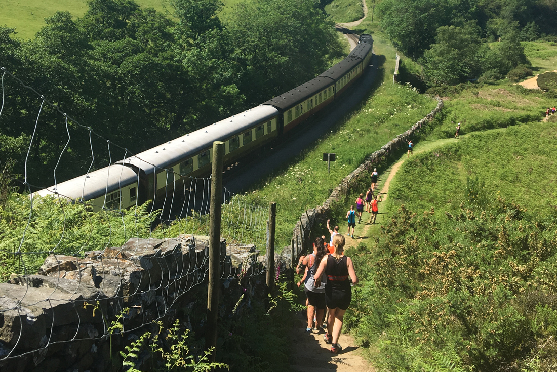 Chase the train - Grosmont to Goathland