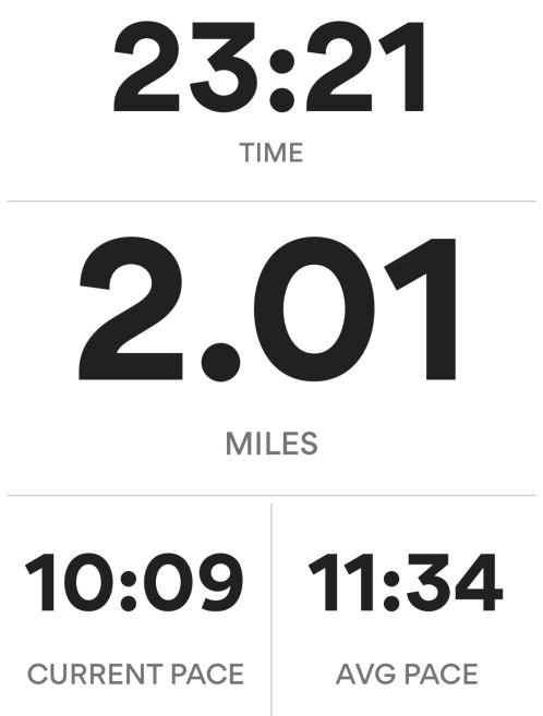 These 2 miles felt so hard