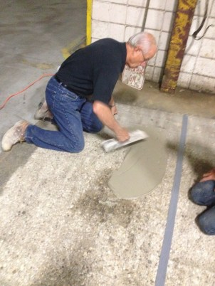 Troweling Out Skim Coat