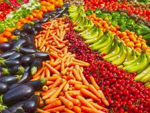 Obst und Gemüse für eine gesunde Ernährung