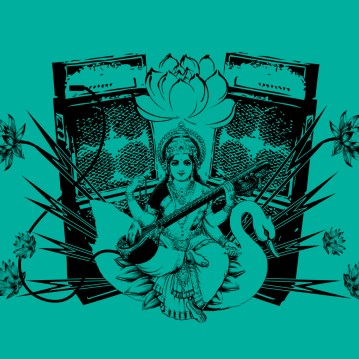 Saraswati print.