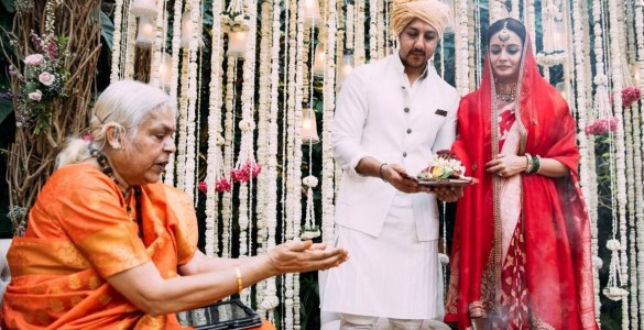 Dia Mirza and Vaibhav Rekhi's wedding solemnized by a woman priest 16