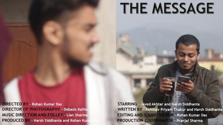 """নতুন টুইষ্টৰ সৈতে নৱপ্ৰজন্মৰ চুটি ছবি """"The Message""""- 2"""