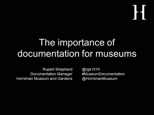 Relevance of documentation revised title slide