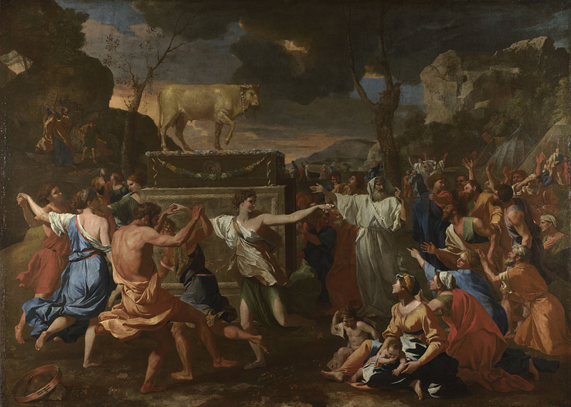 Poussin, The Adoration of the Golden Calf