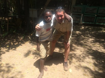 Young Menza with Royjan after surving in his Black Mamba bite.