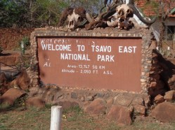 Tsavo East National Park entrance at Voi