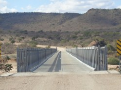 The new steel bridge near Lugard Falls shouldering the Yatta Plateau - longest lava flow in the world - connecting the northern and sounther parts of Tsavo East