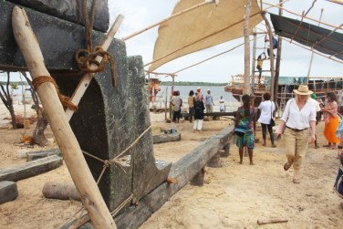 First parts of the recycled dhow assembled for construction in Lamu. Picture courtesy; Dipesh Pabari
