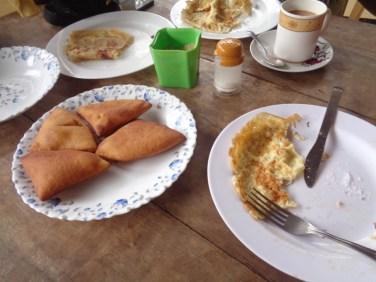 Breakfast at local restaurant in Shimoni before sailing to Kisite-Mpunguti National Marine Park Copyright Rupi Mangat