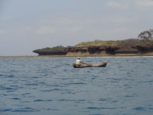 Local fisher by Mkwiro village on Wasini Island by Kisite-Mpunguti National Marine Park Copyright Rupi Mangat